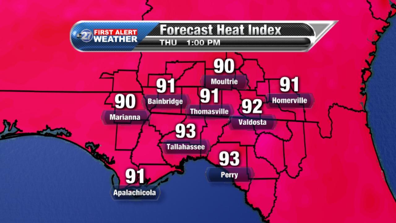 Forecast Heat Index 1pm (09/21/2017)