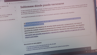 Colorado vaccine website for Spanish speakers, outdated information