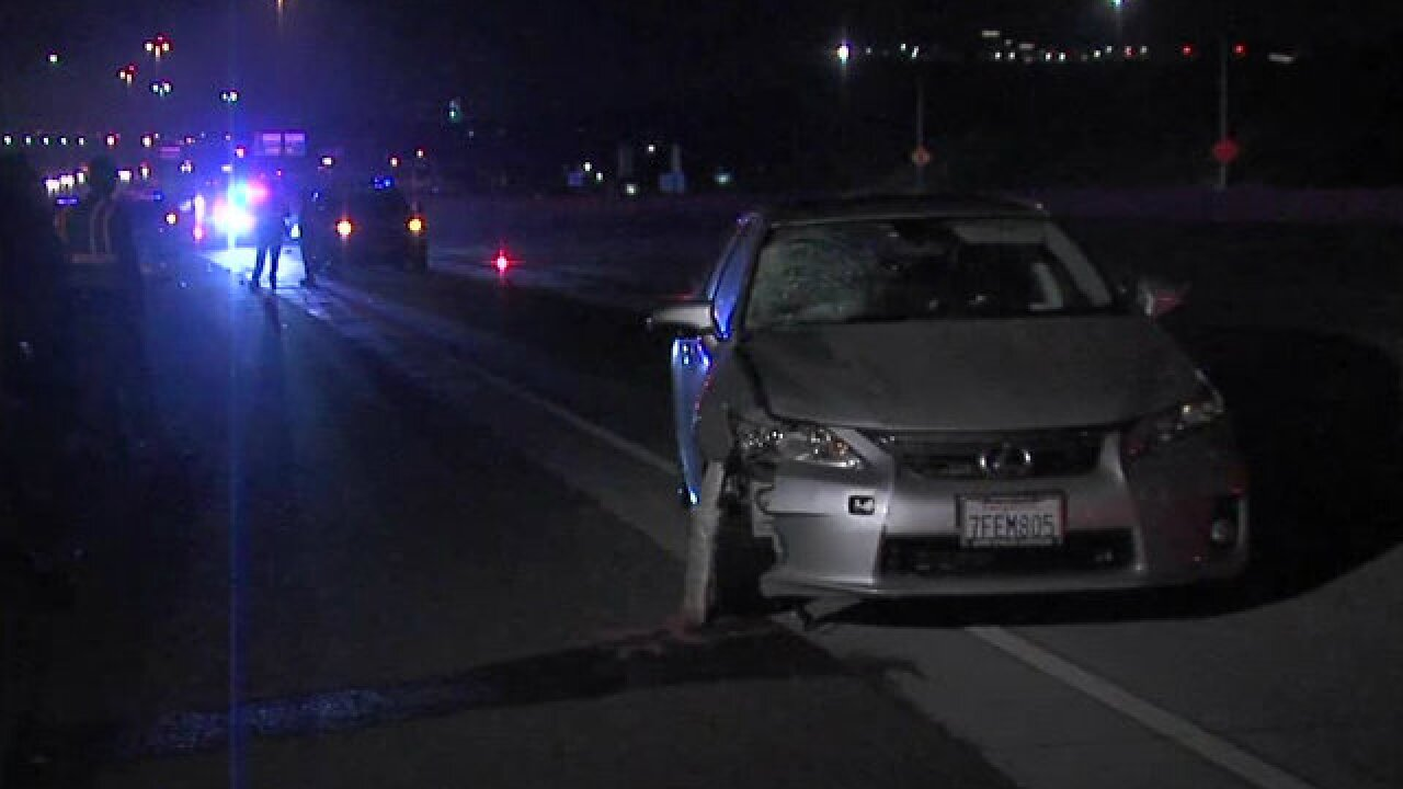 Man hit by car, killed on I-805 lanes in Sorrento Valley area