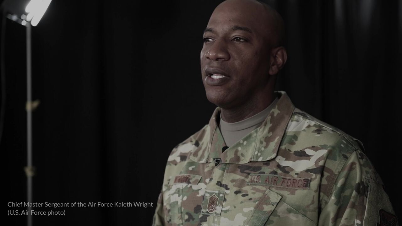 Chief Master Sergeant of the Air Force Kaleth Wright (US Air Force photo)