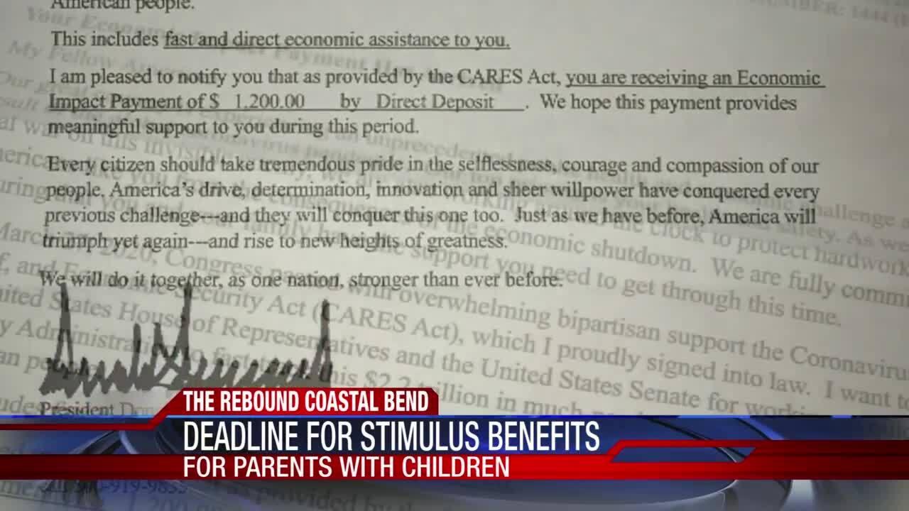 Deadline for stimulus benefits looms tomorrow