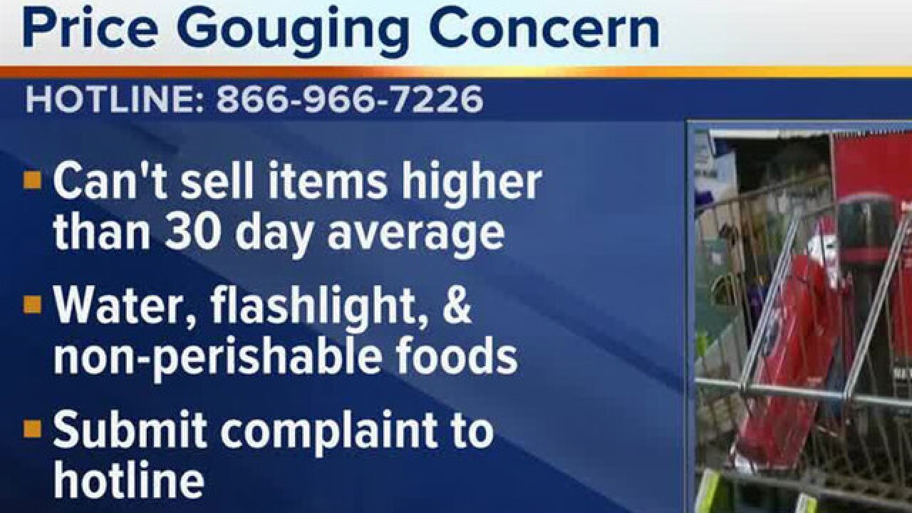 Florida activates price gouging hotline, when to file a complaint