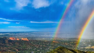Garden of the Gods Double Rainbow