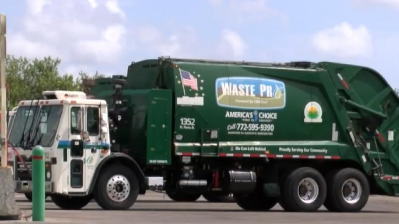 Waste Pro vehicle