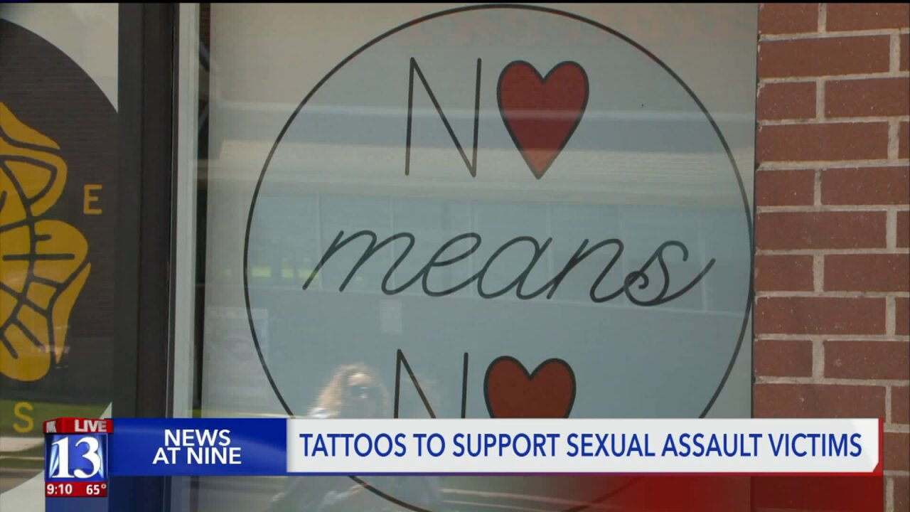 Utahns sport new tattoos to raise money for local sexual assault recoverycenter