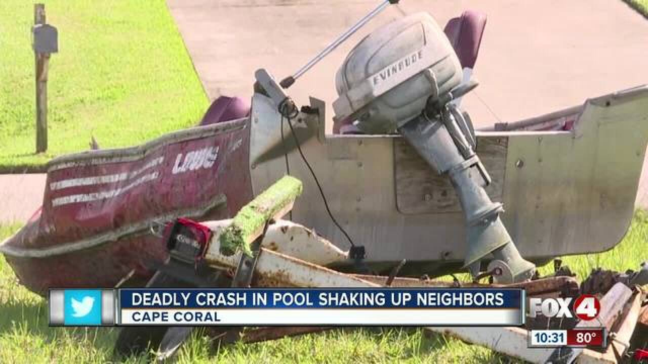Person killed after SUV crashes into Fla. pool