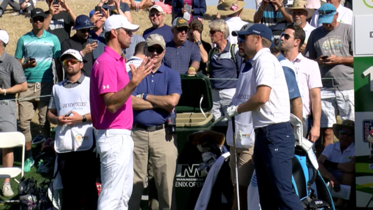 SPOTTED! Celebs goof off at Phoenix Open Pro-Am