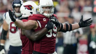 DeAndre Hopkins caught a touchdown pass against his former team, Zach Ertz caught a touchdown pass for his new team and the Arizona Cardinals scored 31 unanswered points to beat the Houston Texans 31-5 on Sunday. AP photo.