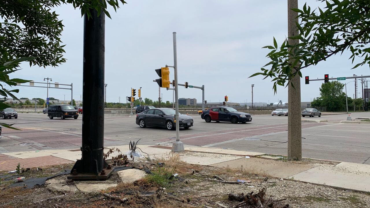 One of the dangerous intersections in Milwaukee