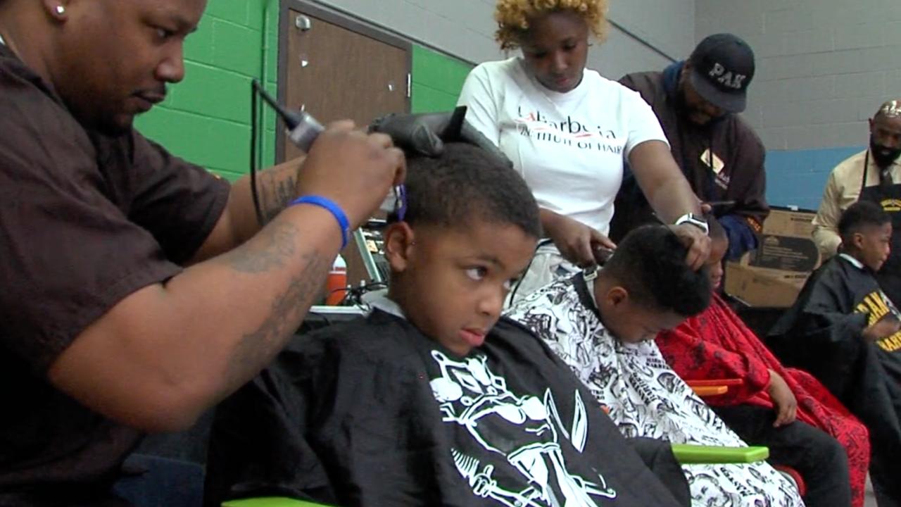 Students haircuts