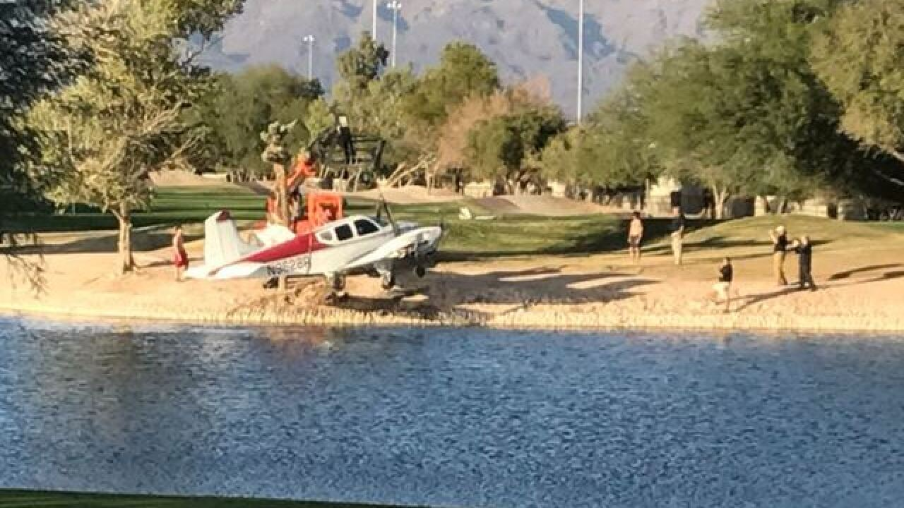 Plane crashes at Las Vegas golf course