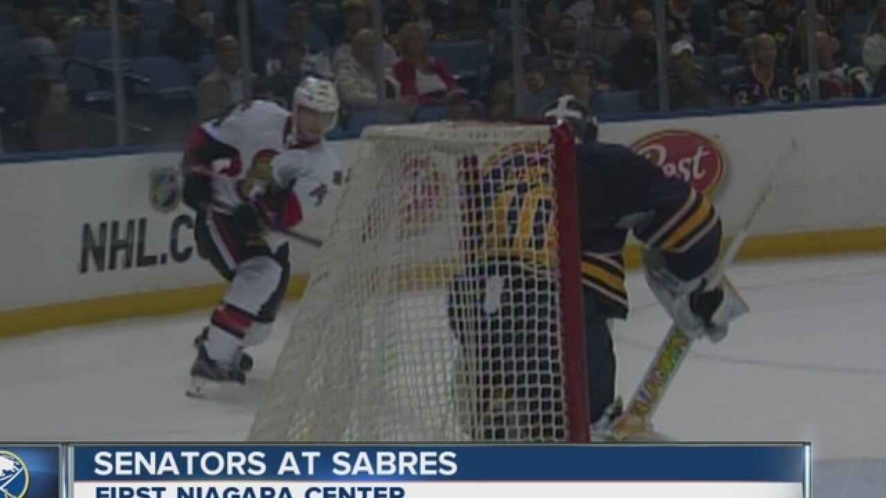 Kane scores twice in Sabres 5-2 loss to Senators