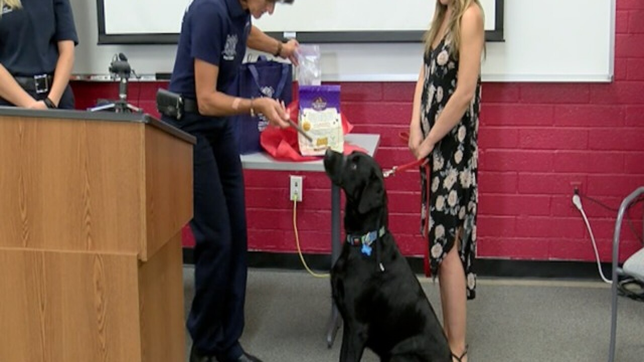 PUPPY POWER! Hero dog honored by Mesa FD