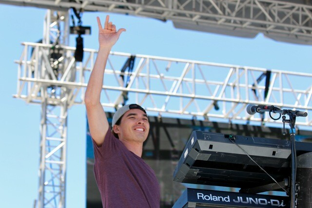 PHOTOS: Stick Figure and tour dog Cocoa chills out SunFest