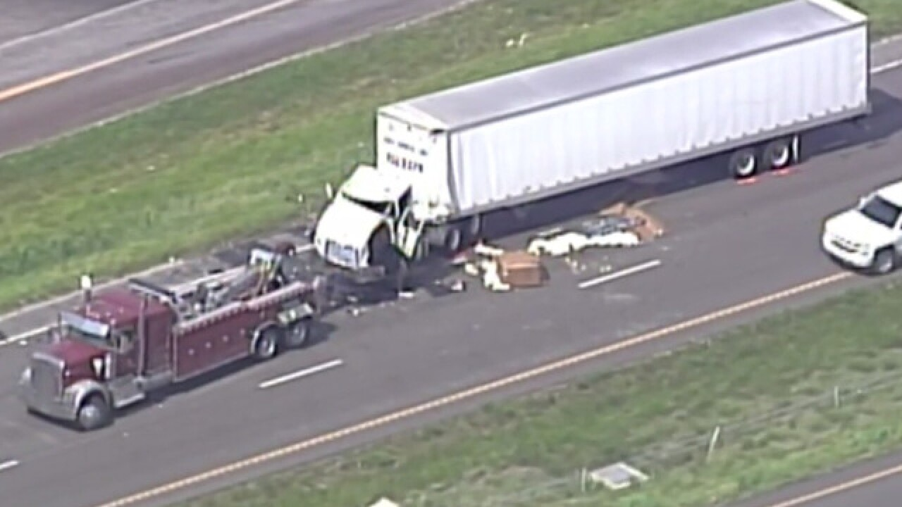 1 man dead after I-70 crash involving 2 tractor-trailers