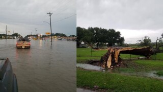 Eunice sees heavy flooding following severe storms Friday