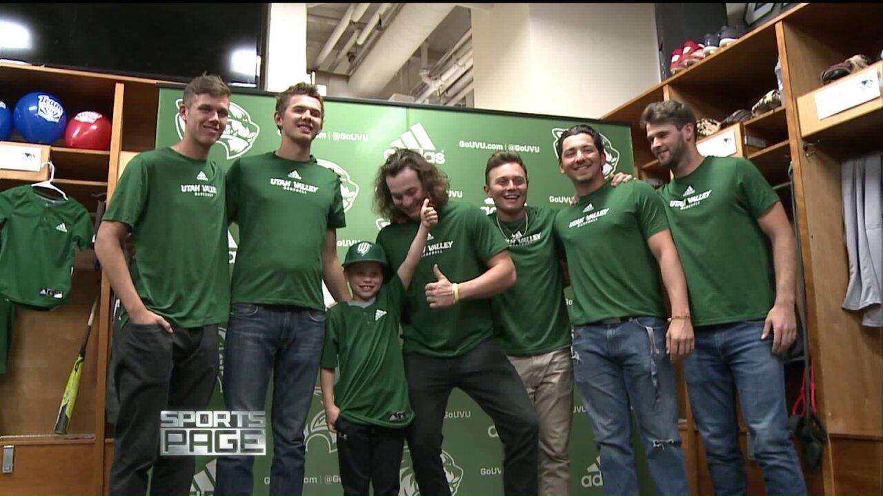 UVU Baseball signs 8-year-old battling cysticfibrosis