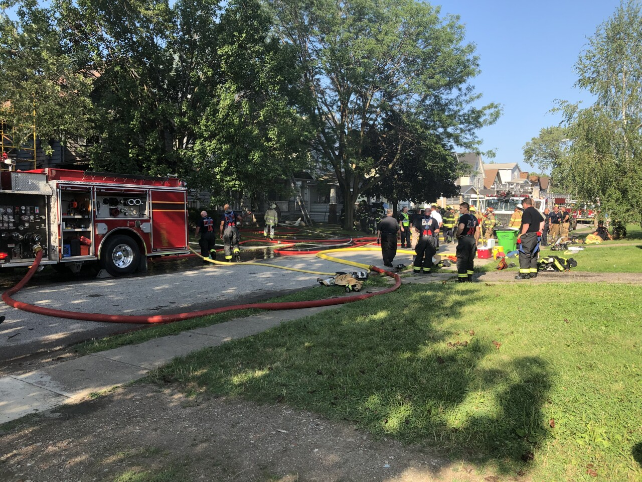 Three houses catch fire in Newburgh Heights neighborhood