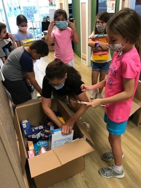 Donation drive at Chesterbrook Academy Preschool in Palm Beach Gardens