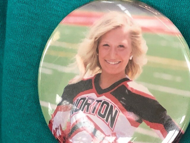 Norton cheerleader Emma Pfouts