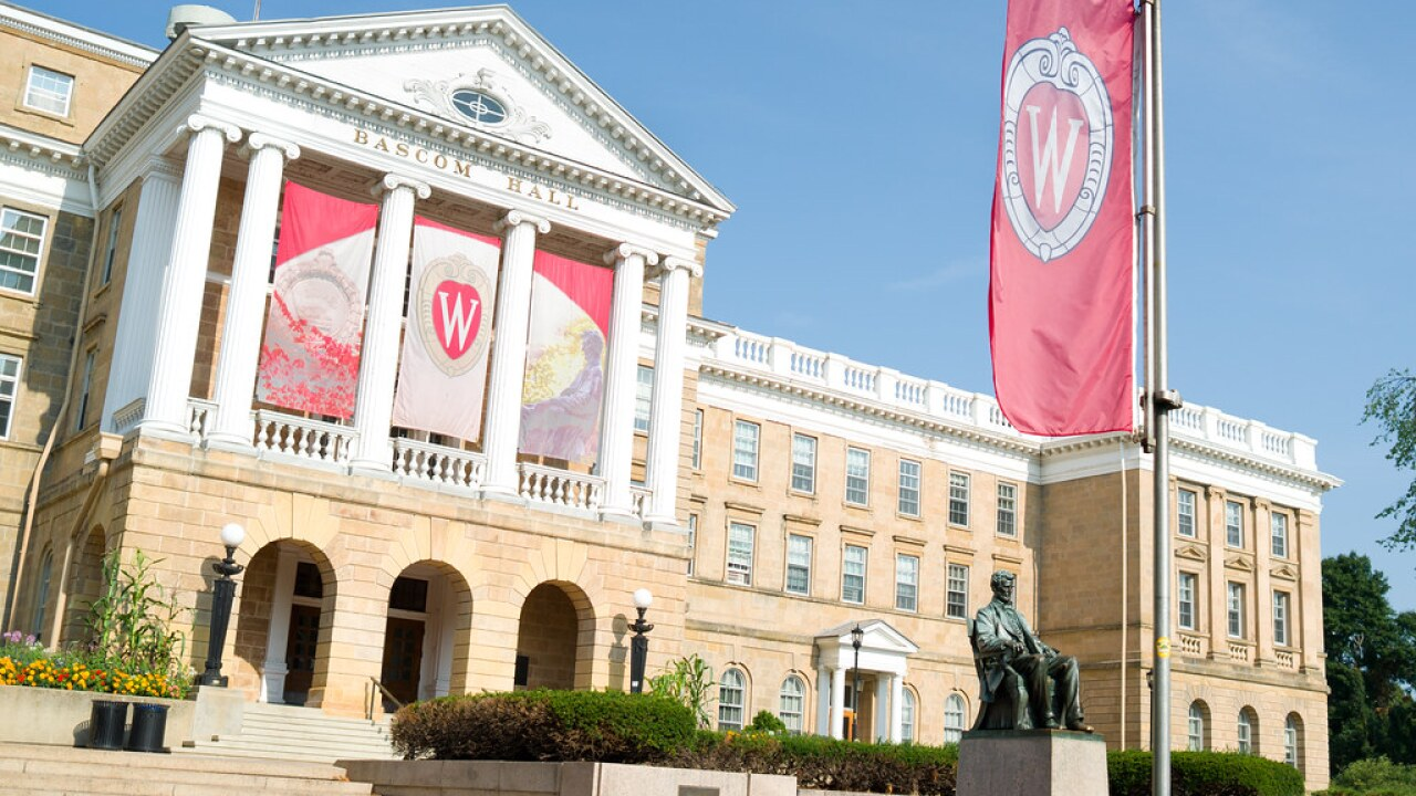Whites Only' message posted on UW-Madison building sign