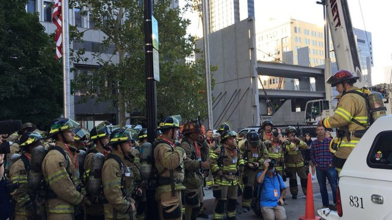 Local firefighters climb 110 stories on 9/11