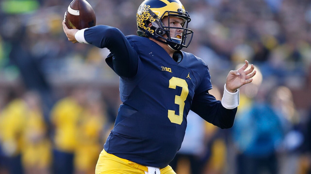 QB Wilton Speight to leave Michigan as graduate transfer