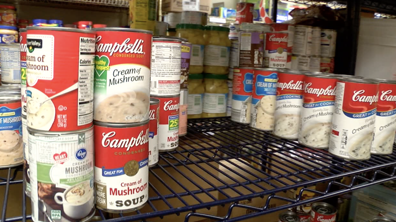 Canned goods at Community Kitchen