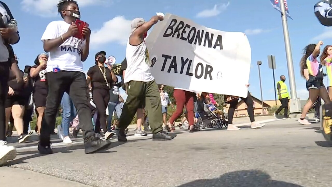 BLM march for Breonna Taylor in Florence