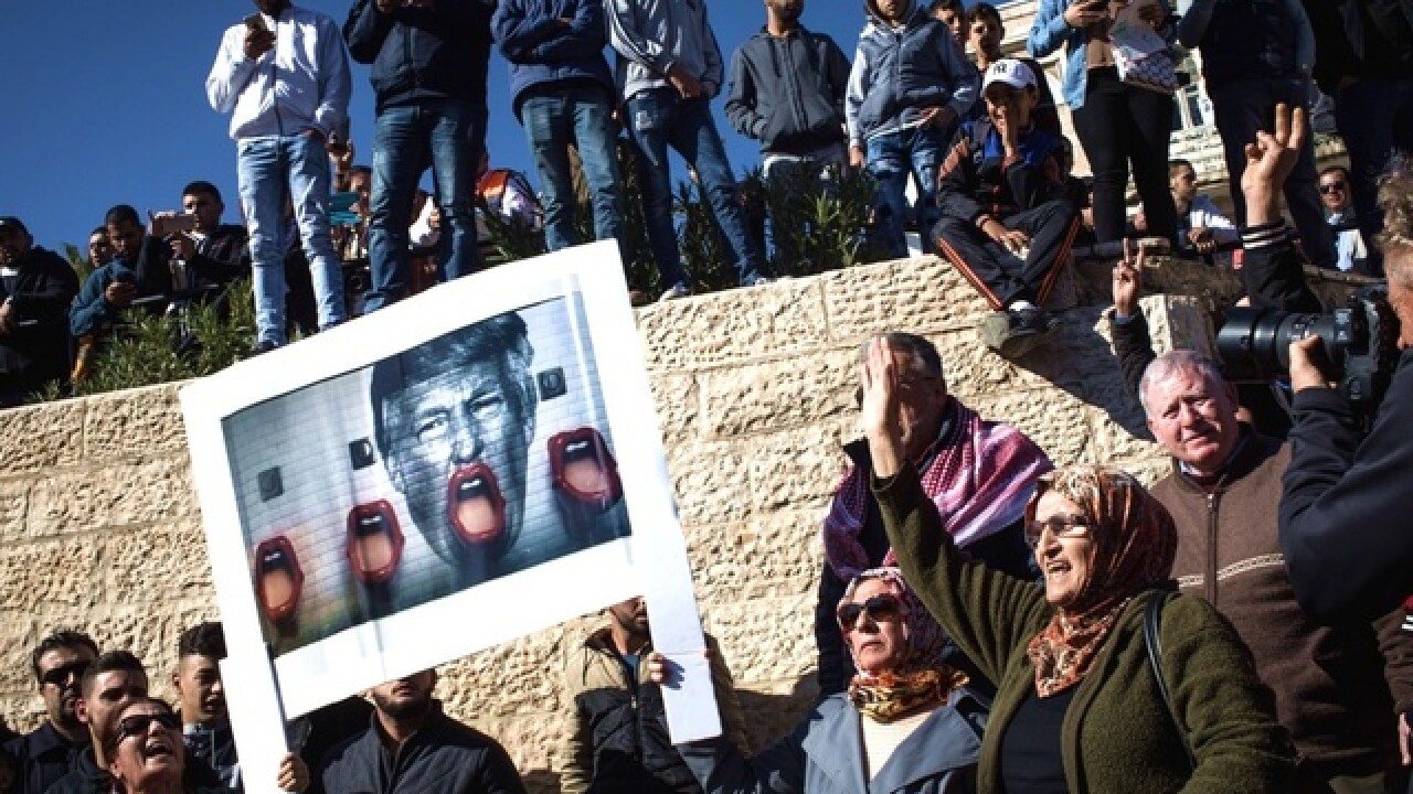 Worshippers lash out against Trump's Jerusalem decision with 'Day of Rage' across Muslim world