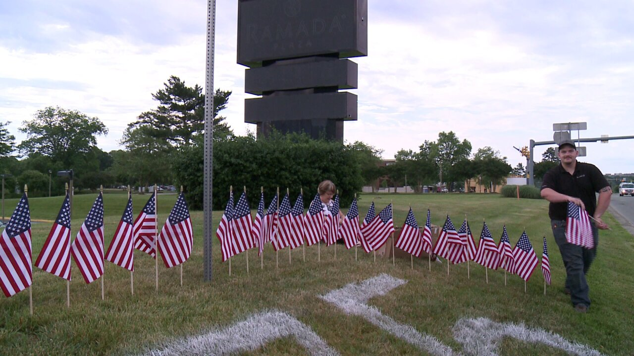 These flags in Henrico honor 75th anniversary of D-Day