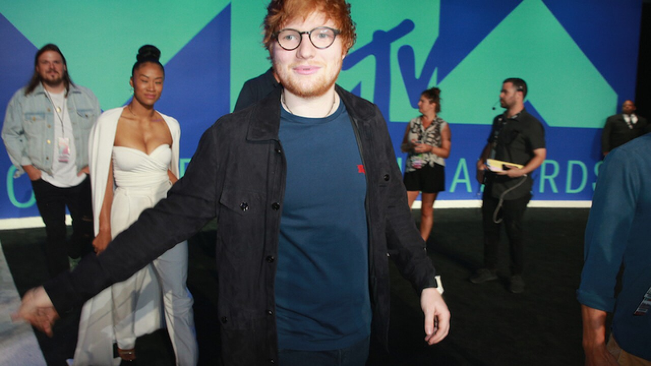Ed Sheeran hurt himself cycling