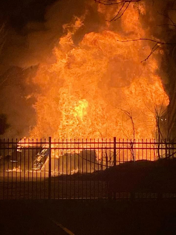 Photos: Structure collapses after large Portsmouth residential fire