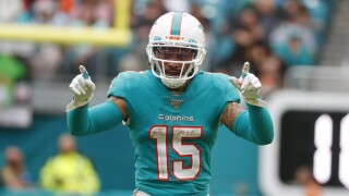 Albert Wilson, Dolphins wide receiver, in 2019