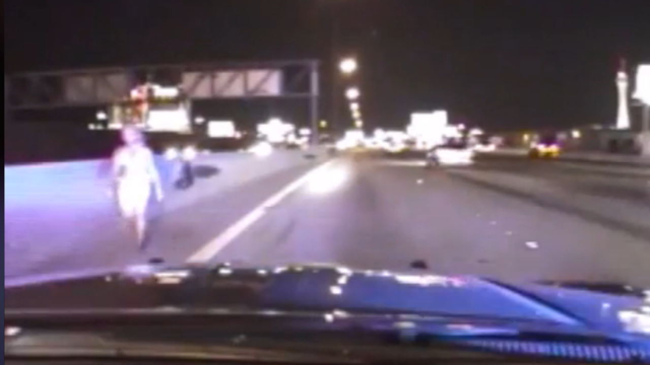 WATCH: Nevada trooper rescues bikini-clad woman from Las Vegas highway