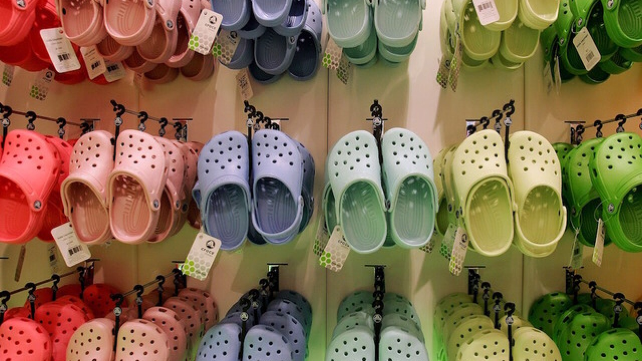 Report: Crocs should not be worn for long walks