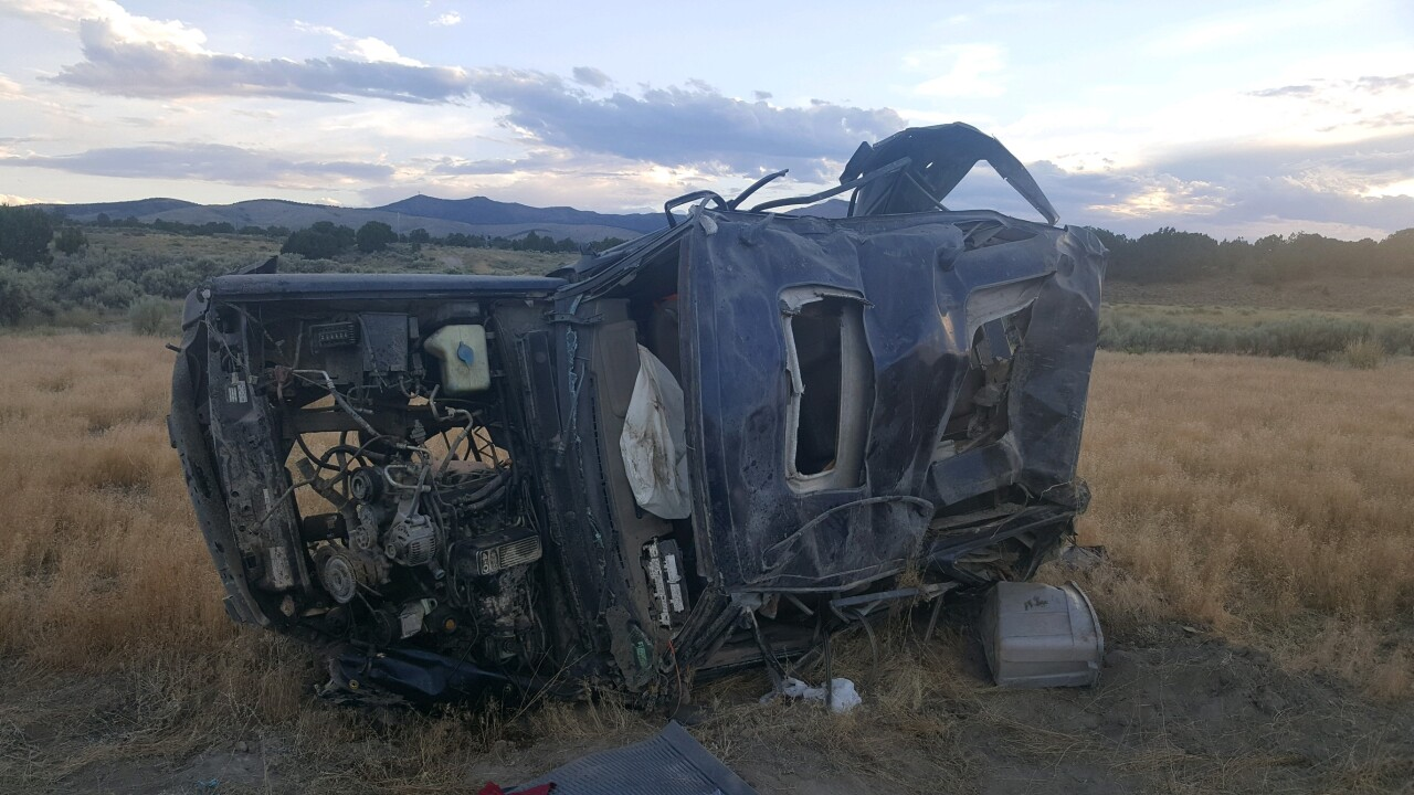 Two teens injured in Tooele County rollover crash