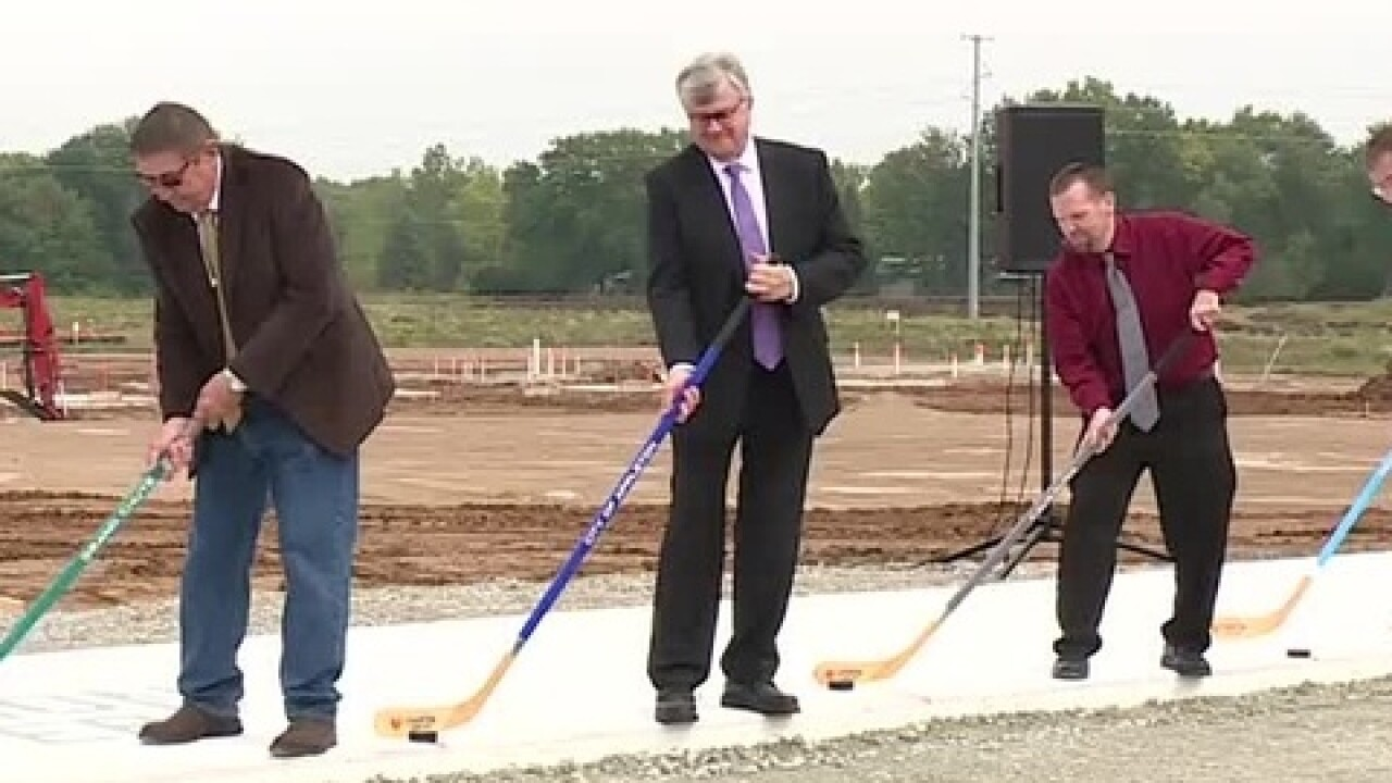 Ceremonial groundbreaking for new sports complex