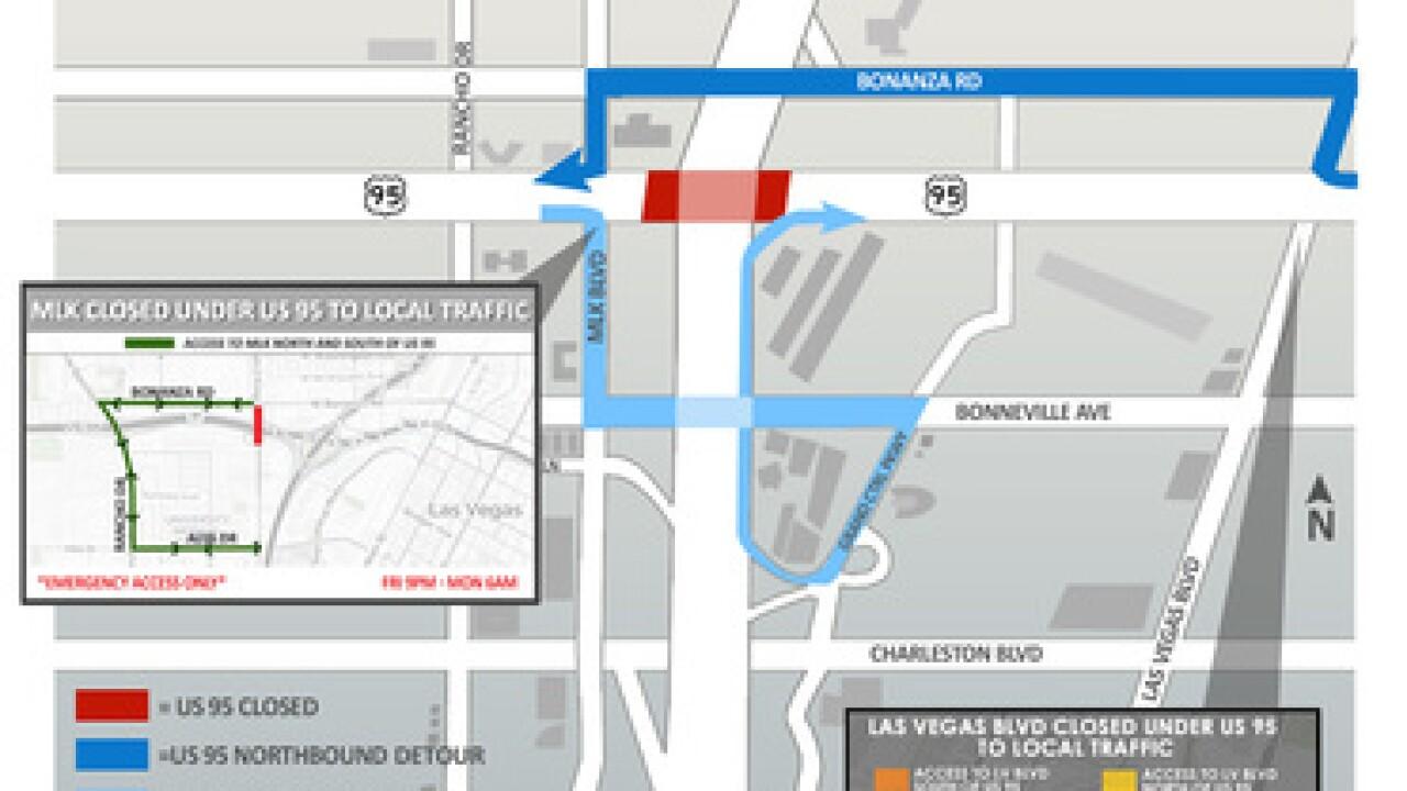 Lane closures increasing traffic on I-15