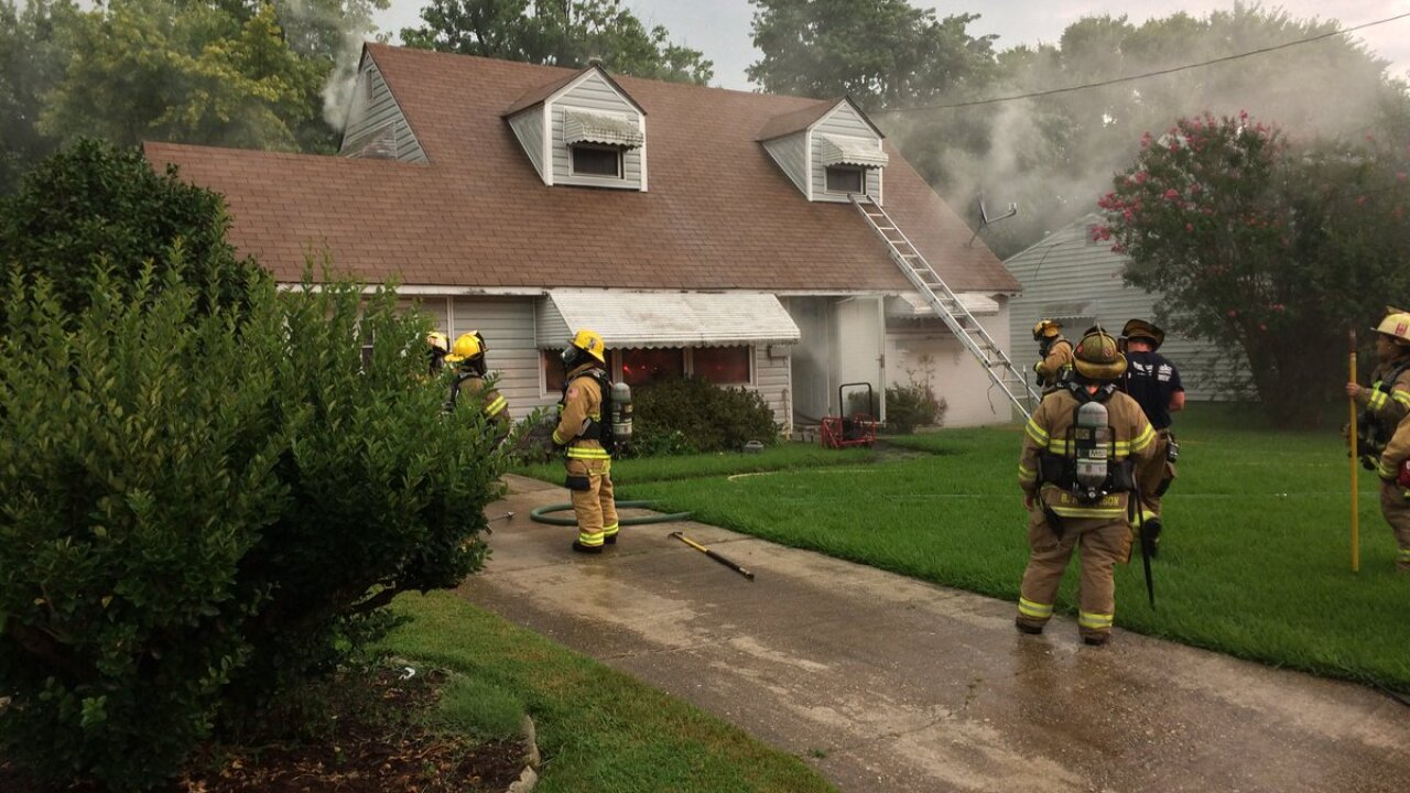 Two people displaced after Chesapeake house fire