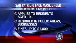 San Patricio County issues face mask order beginning Wednesday