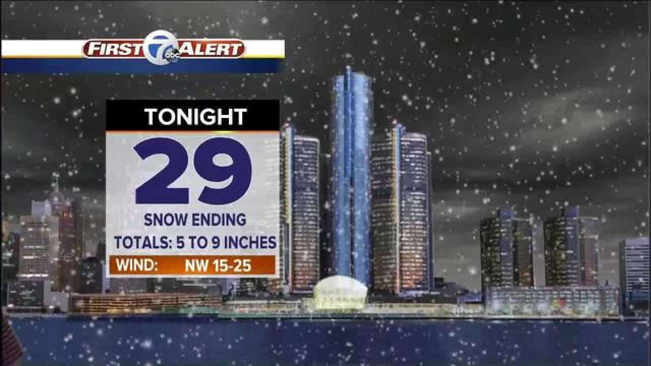 FORECAST: Heavy rain turns to heavy snow