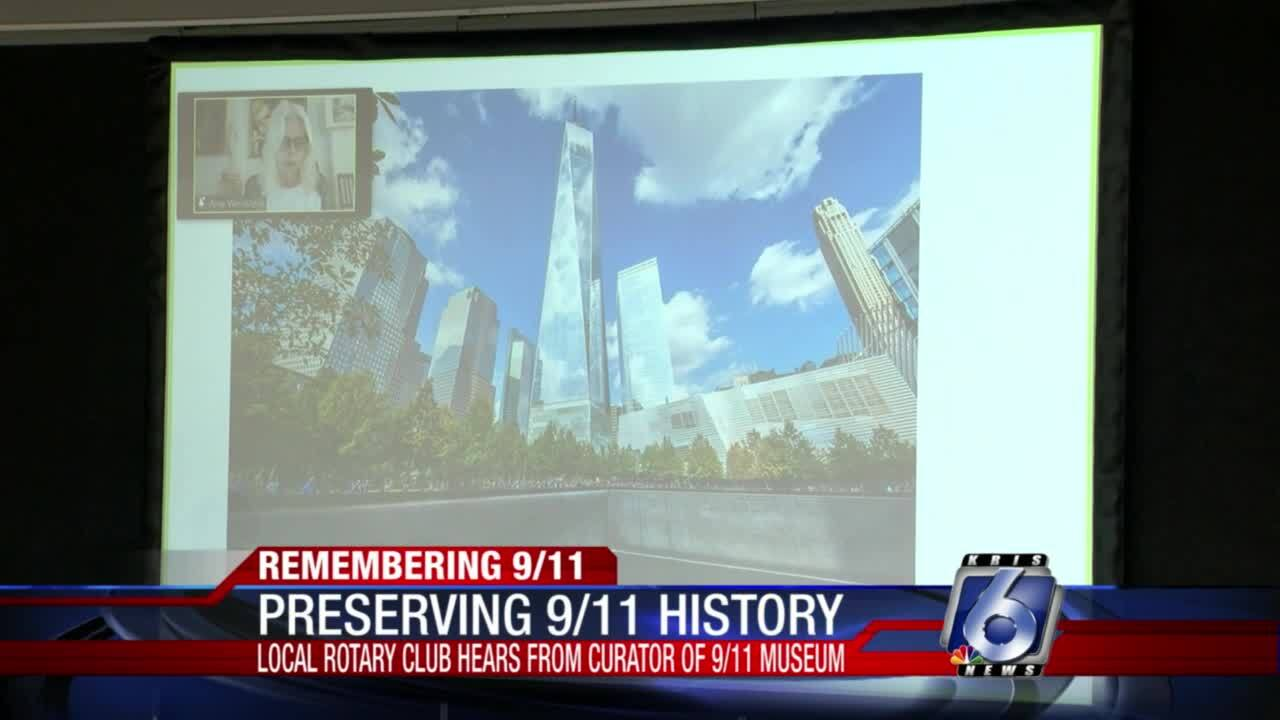 National 9-11 museum curator meets virtually with local Rotary Club