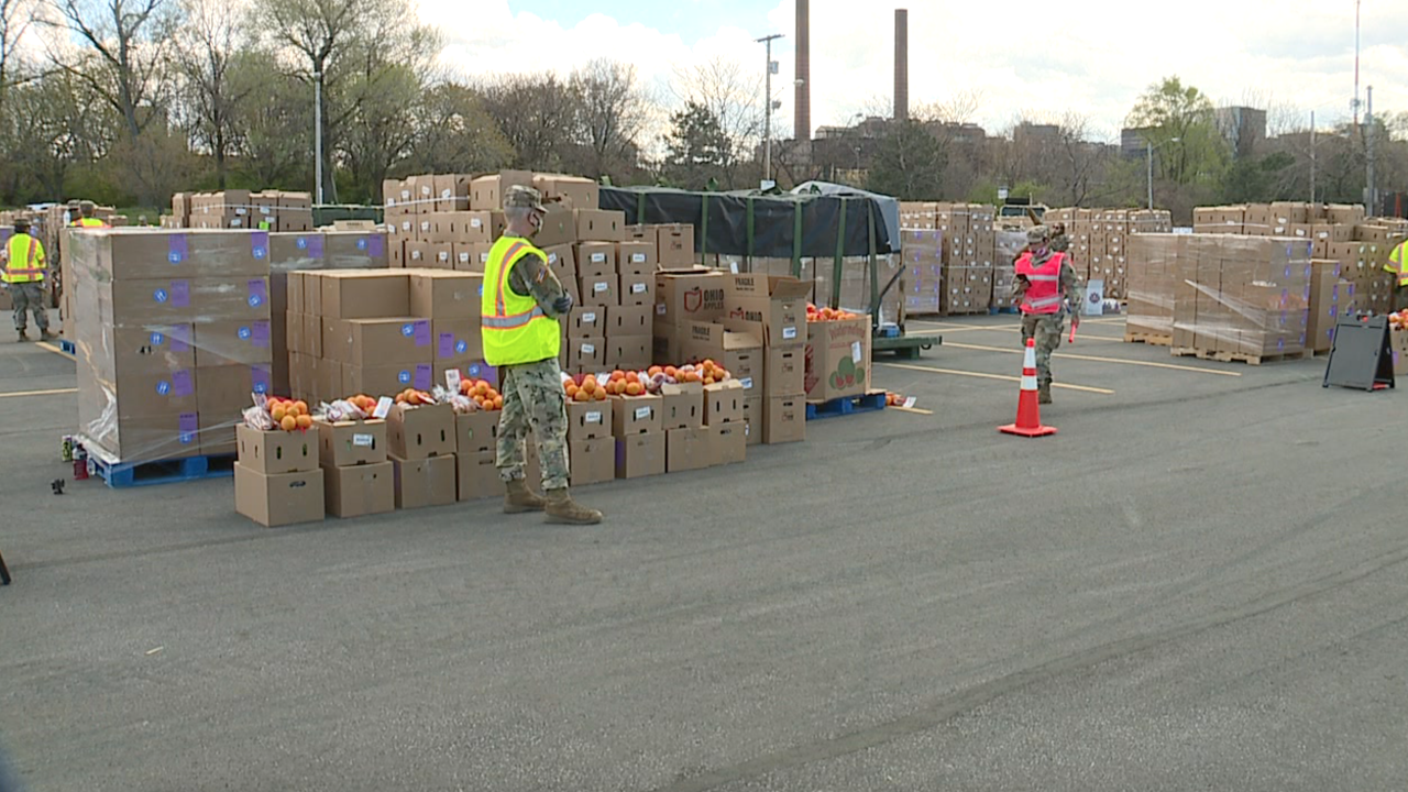 Greater Cleveland Food Bank distribution