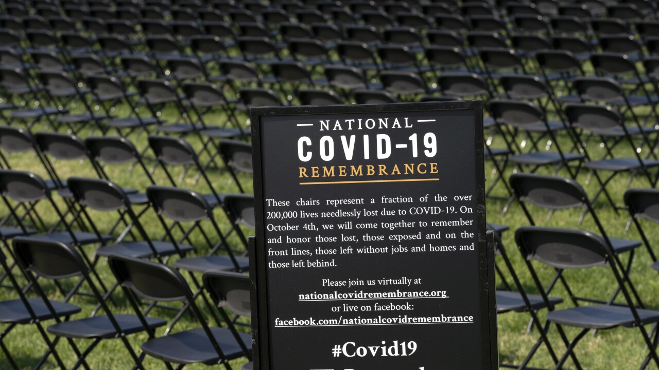 Thousands of empty chairs across from White House honor Americans killed by virus