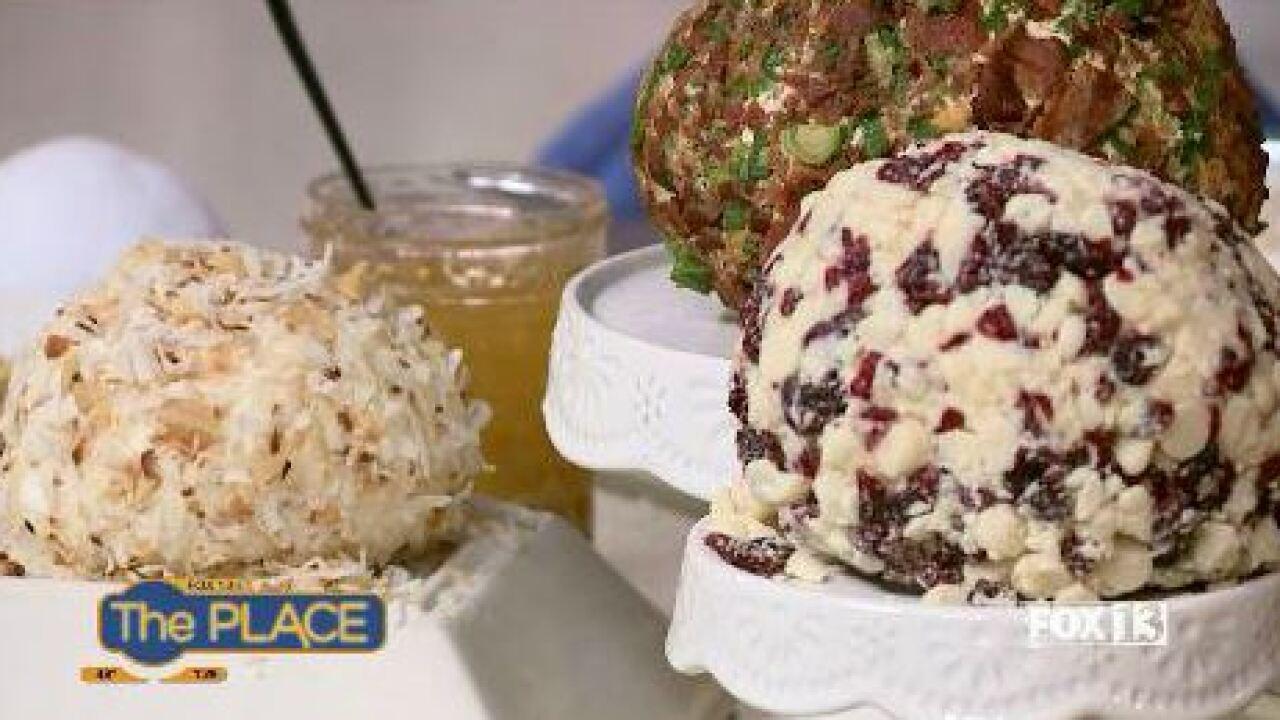 Pina Colada Cheeseball by Cayt's Meats andMeals