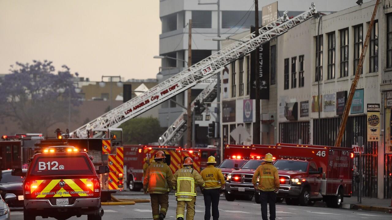 APTOPIX Los Angeles Explosion