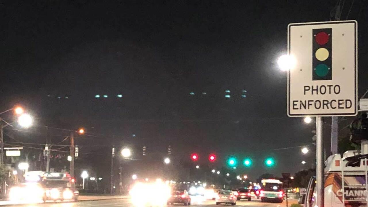 Red-light camera intersection in Boynton Beach