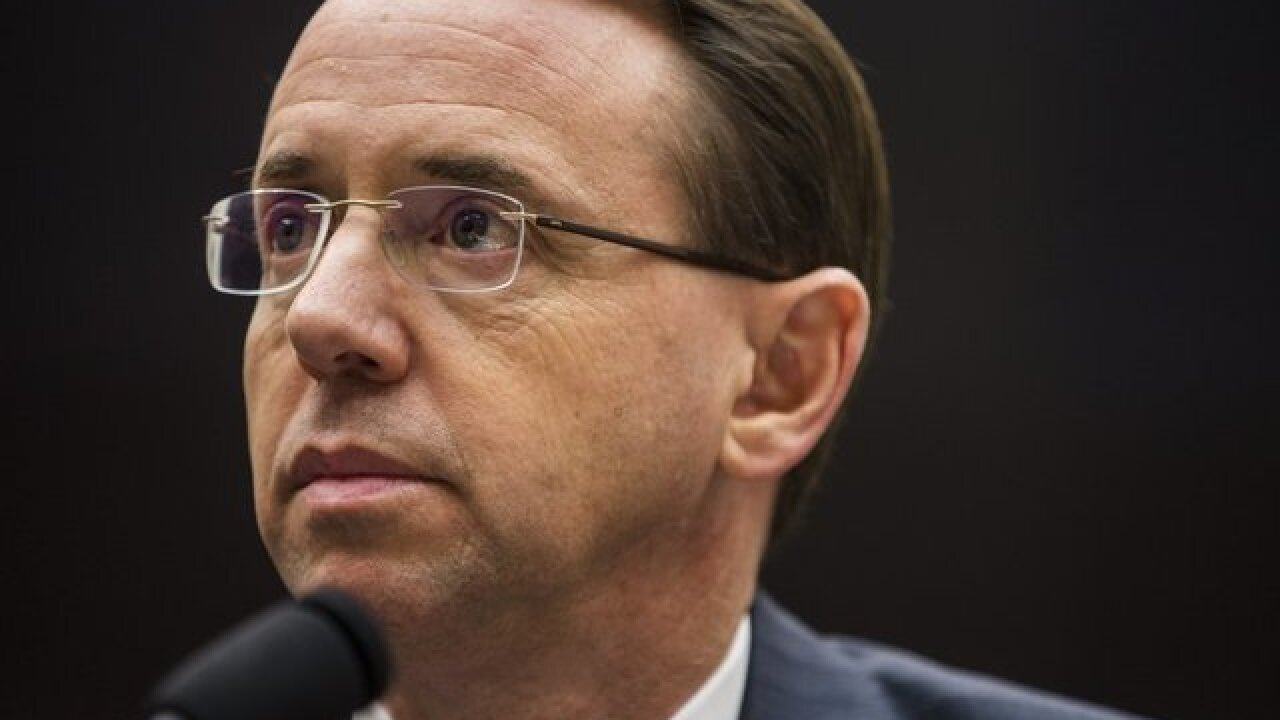 President, Deputy Attorney General Rod Rosenstein to meet Thursday