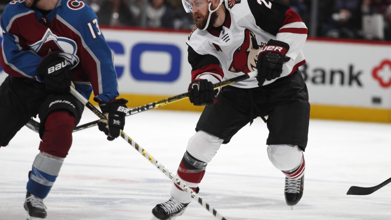 KNXV Coyotes Avalanche AP Photo